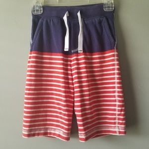 Mini Boden Boy Shorts Patriotic Striped sz 5